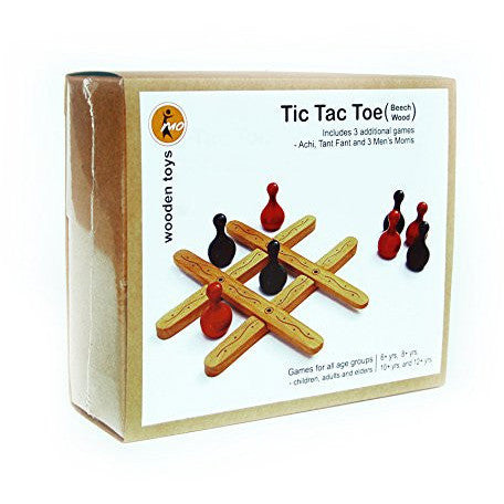 Wooden Tic Tac Toe - KitaabWorld