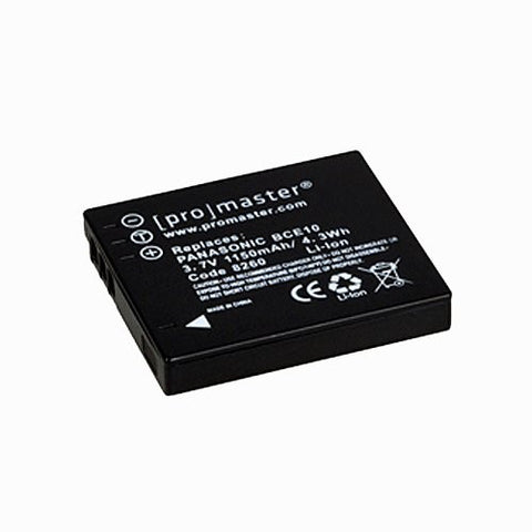 Promaster DMW-BCE10 Battery - Replacement  for Panasonic DMW-BCE10 & CGA-S008