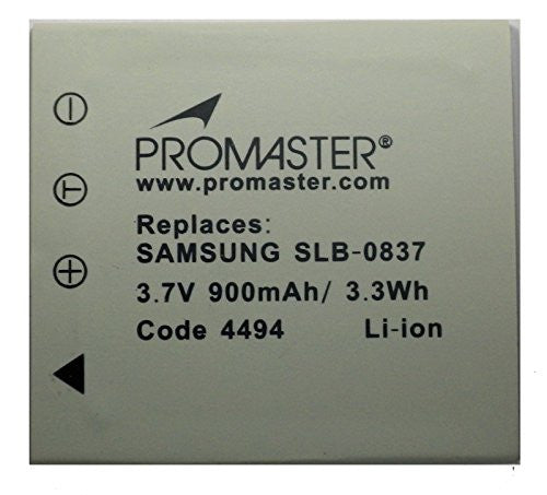 Promaster SLB-0837 Battery - Replacement for Samsung SLB-0837