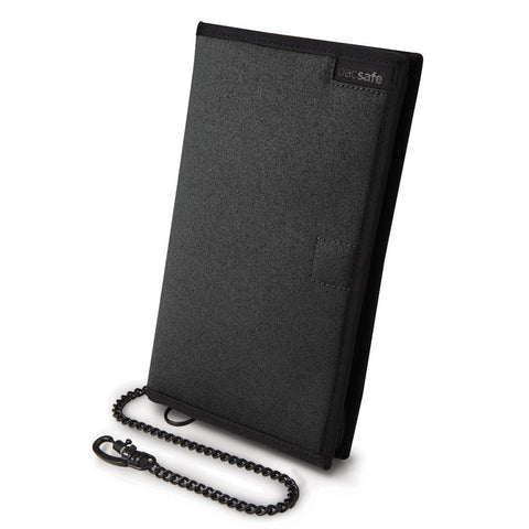 Pacsafe RFIDsafe Z200 Travel Organizer Wallet with chain, Charcoal Gray (10615)