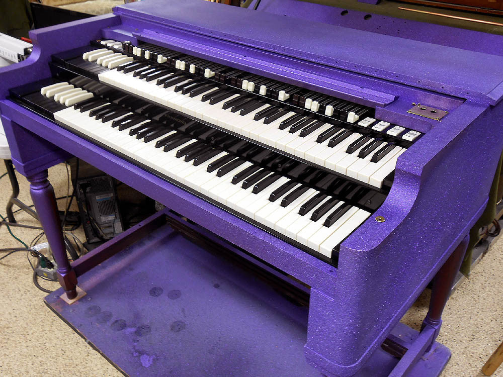 Hammond Organ B3 PURPLE GLITTER