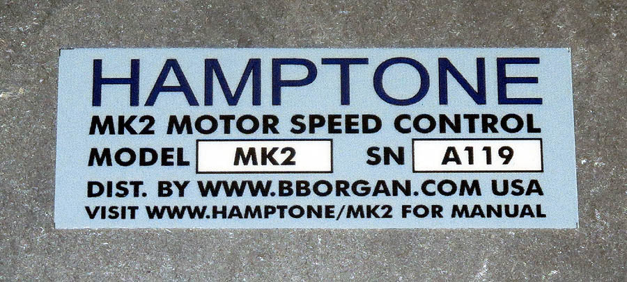 Hamptone MK2 Leslie Speaker Motor Control Coming next month!