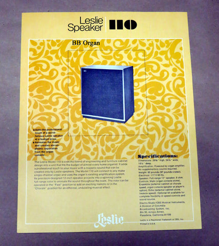 110 Leslie Speaker Product Brochure