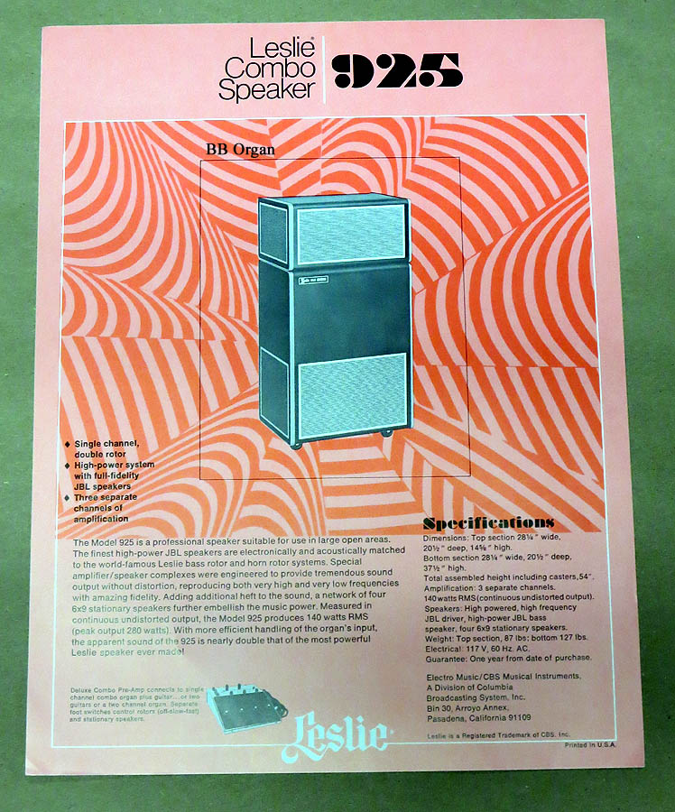 925 Leslie Speaker Product Brochure