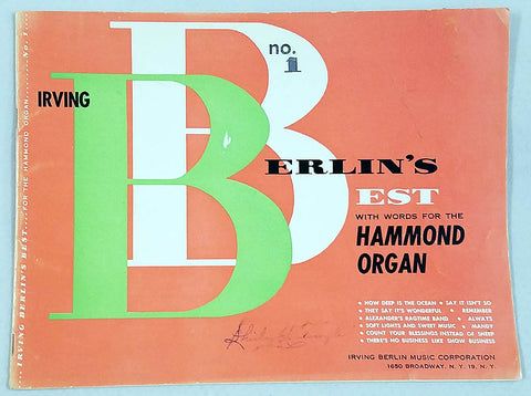 Berlin's Best ( Songs for the Hammond Organ )
