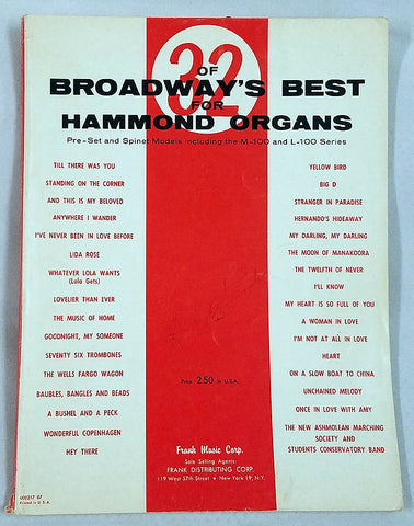 Broadway's Best for the Hammond Organ