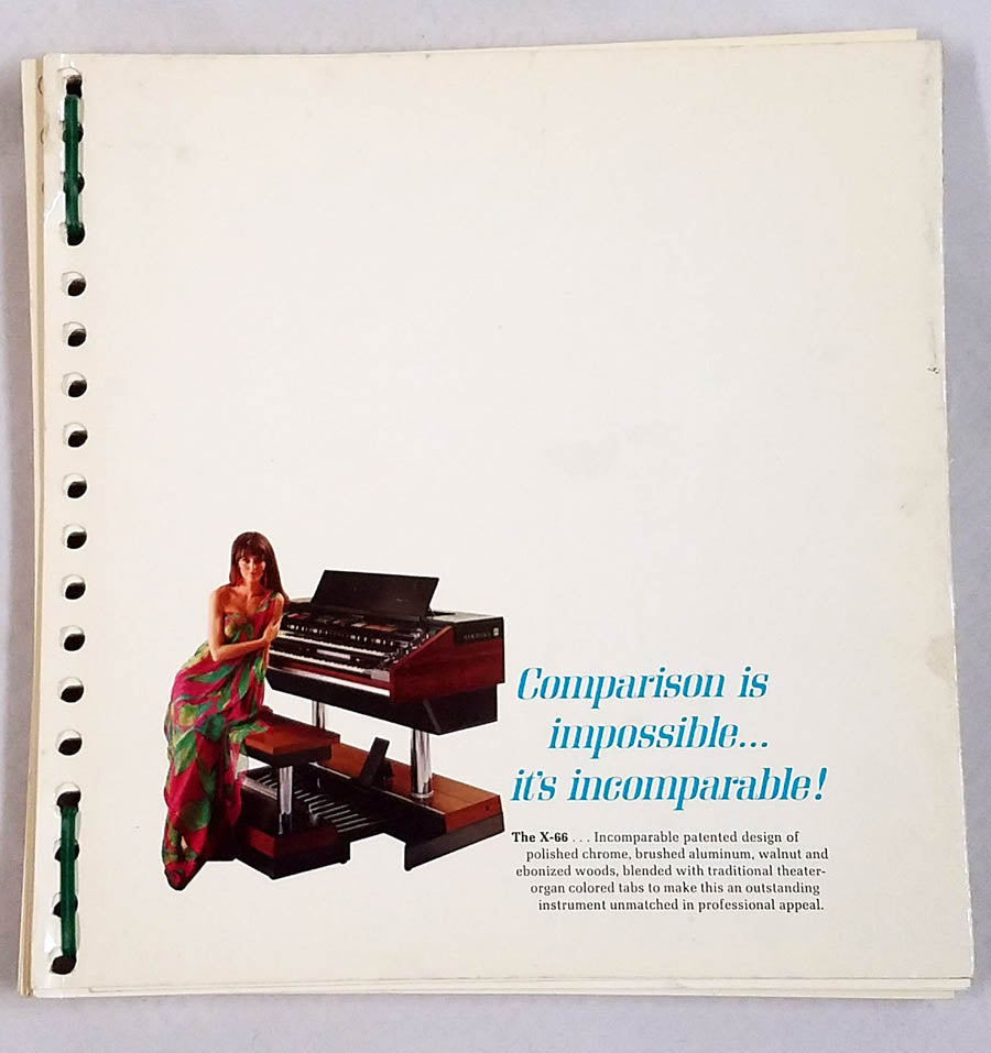 Comparison is Impossible....... High Gloss Hammond Organ Catalog