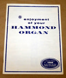 Hammond Organ 1958 Guide and Visual Selector of Music Aids Book