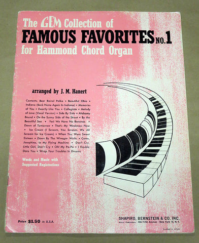 Famous Favorites for the Hammond Organ #1
