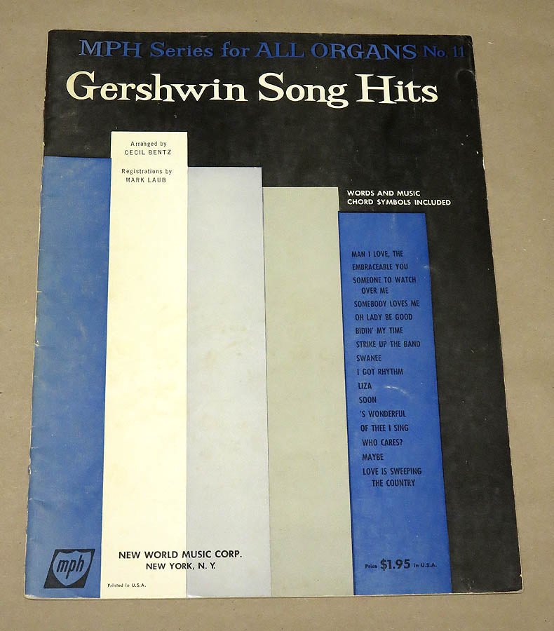 Gershwin Song Hits for the Hammond Organ
