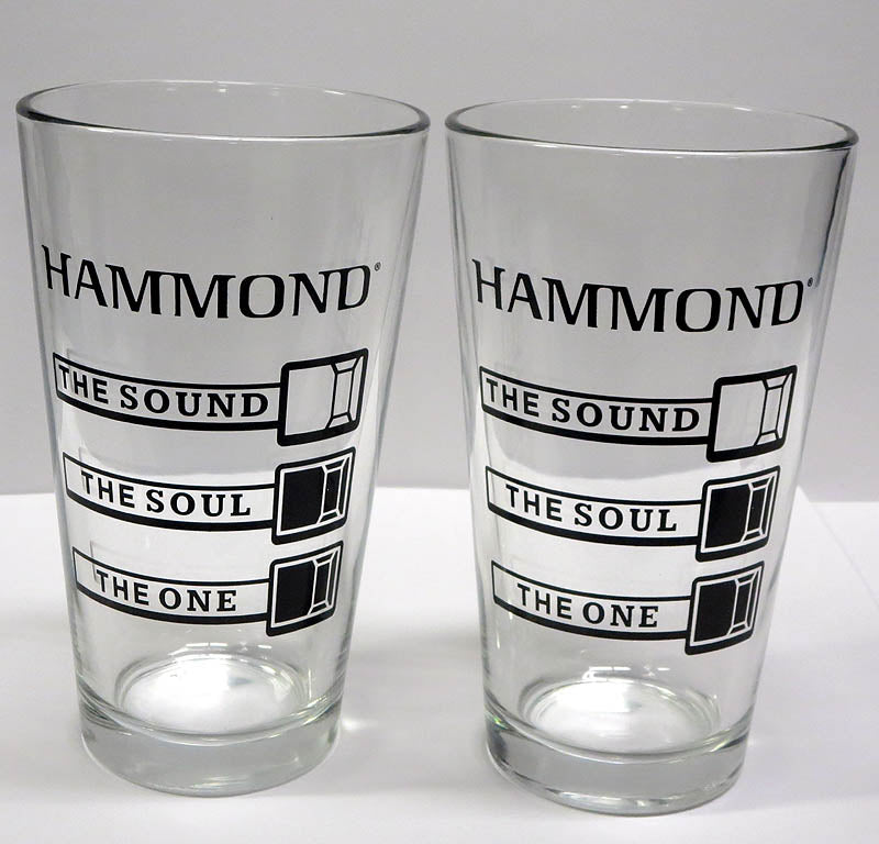 Hammond Organ Drawbar Pint Glass (Pair)