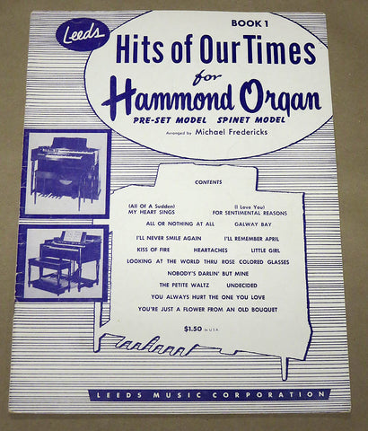 Hits of Our Times for the Hammond Organ #1
