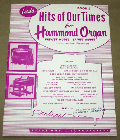 Hits of Our Times for the Hammond Organ #2