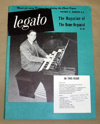 "Legato ""The Magazine of the Home Organist"" vol 3 #2,3"