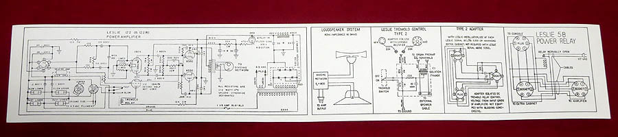 122 Leslie Amp Chassis Schematic Label Sticker