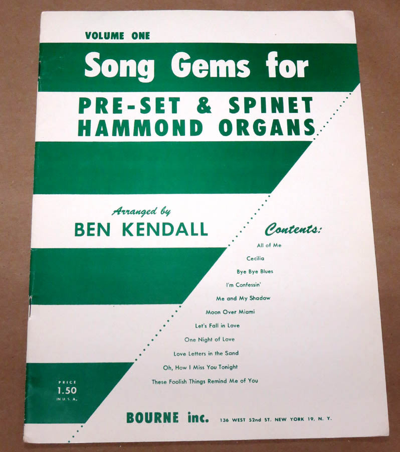 Song Gems for the Hammond Organ #1