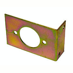 L-bracket for Amphenol plug or socket