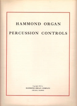 Hammond Organ Percussion Controls