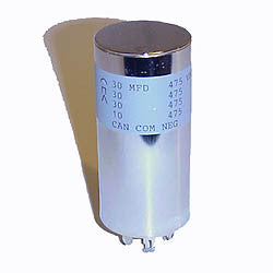 Electrolytic filter can capacitor for Leslie Speaker