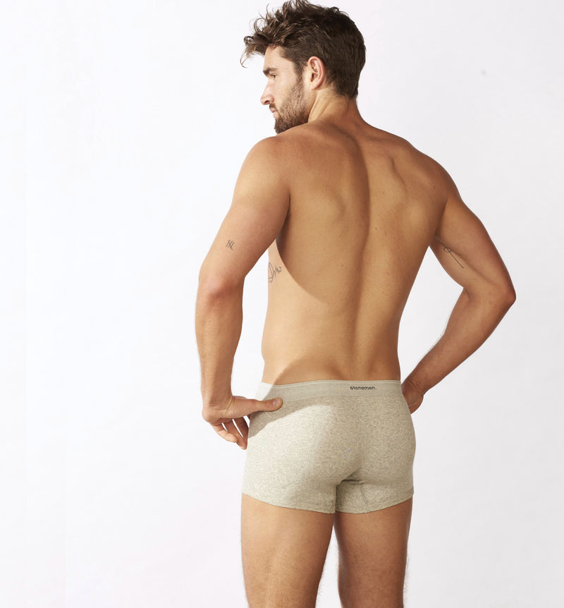 4 Pack Boxer Briefs  /  Grey Marle  /   Basic Essentials