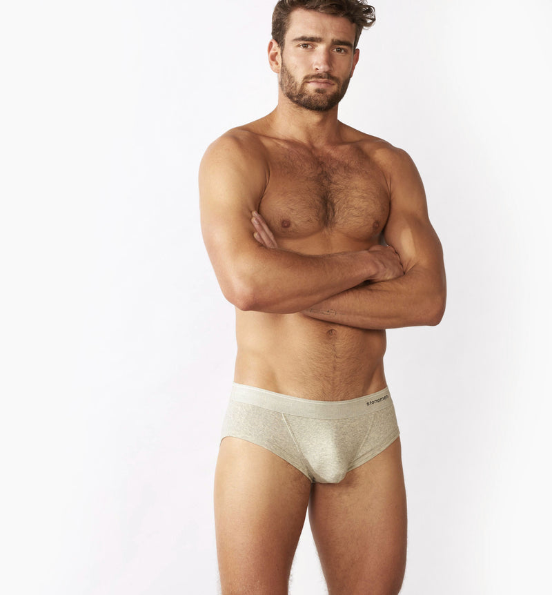 4 Pack Briefs /  Marle Grey  /  Basic Essentials