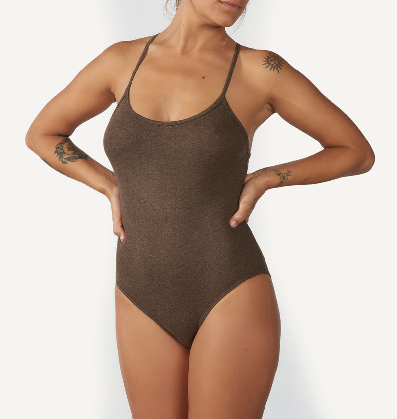 Bodysuit  /  Essential Charcoal Black