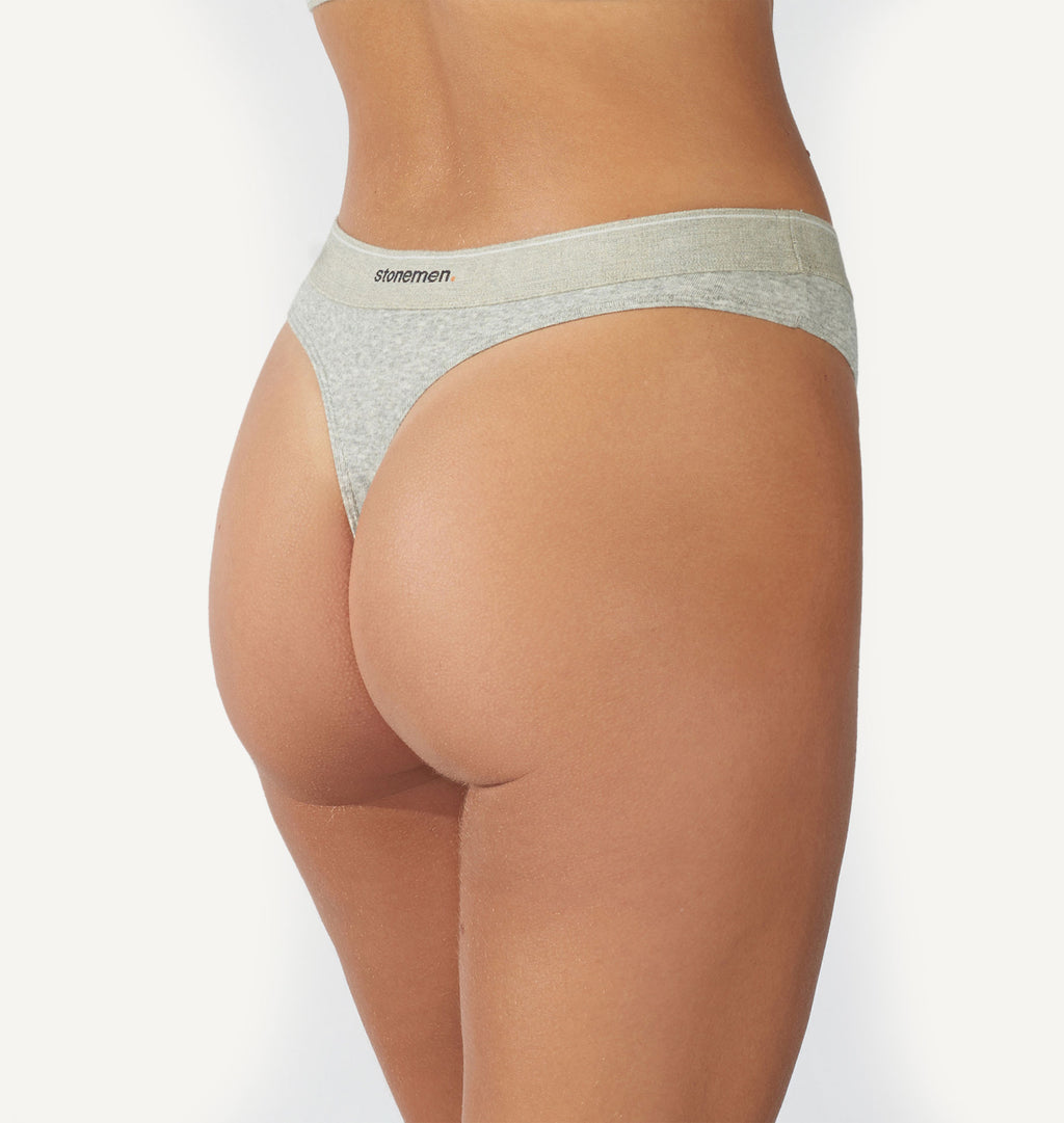Womens cotton thong