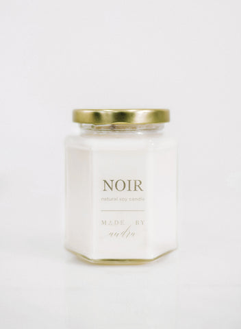 Glass Hexagon Candle Noir