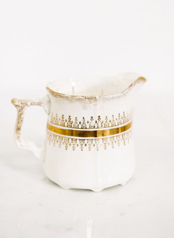 White & Gold Porcelain Pitcher