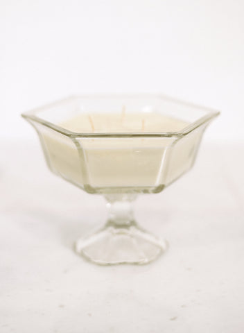 Stemmed Hexagonal Glass