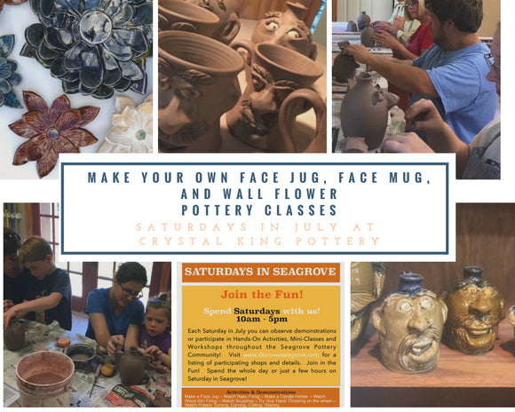 Pottery Classes with Crystal King in Seagrove NC