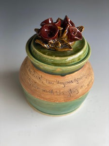 Lilies of Field Scripture Pot with Flowers 6""