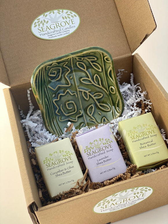 Gift Set Soap Dish with Shea Butter Soaps 3