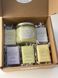 Gift set- Spring Candle and 5 Shea Butter Soaps