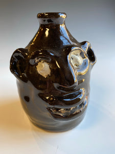 "5.5"" Early Face Jug by Marie Rogers no pupils"