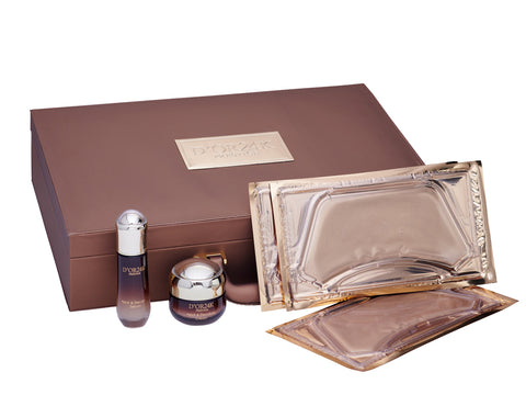 Neck and Décolleté Collection Serum, Cream & Gold Neck Decollate Lifting Treatment Mask Set