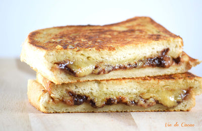 Apple Butter, Dark Chocolate, and Cheddar Grilled Cheese