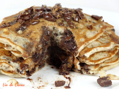 Dark Chocolate Coconut Pancakes