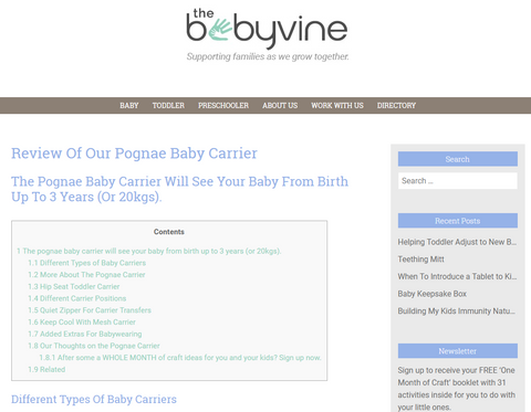 Pognae Australia Baby Carrier Review