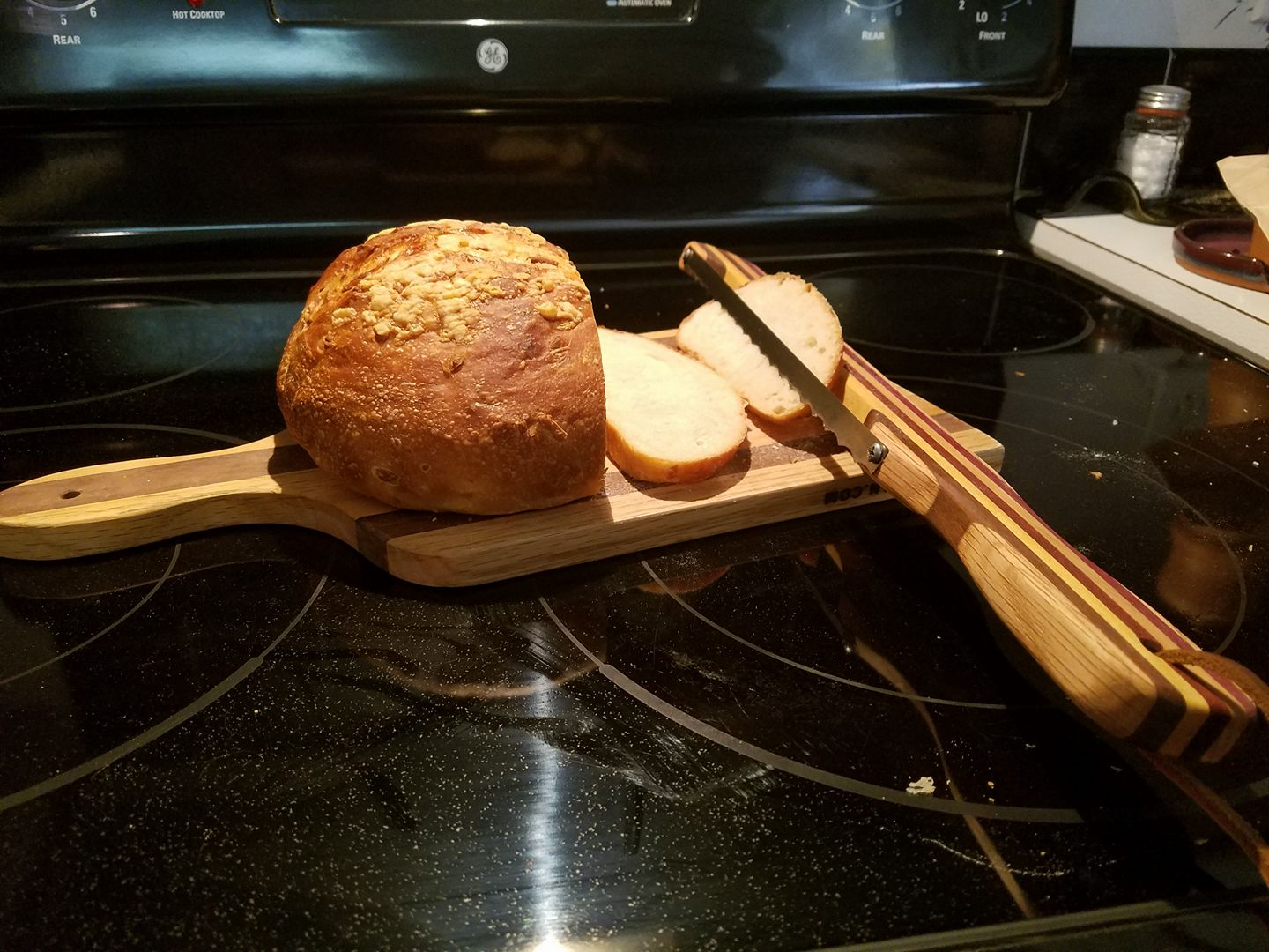 bread / challah knife, (double edge)