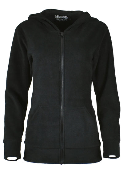 Black Fleece Corset Hoodie with Rainbow Lacing