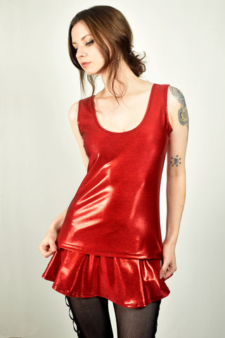 Shiny Red Mystique Tank Top