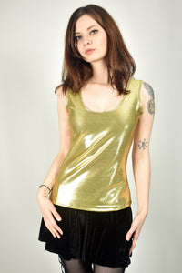 Shiny Gold Mystique Tank Top