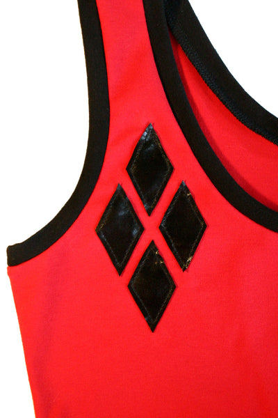 Harley Quinn Diamond Lace-Up Back Mini Dress
