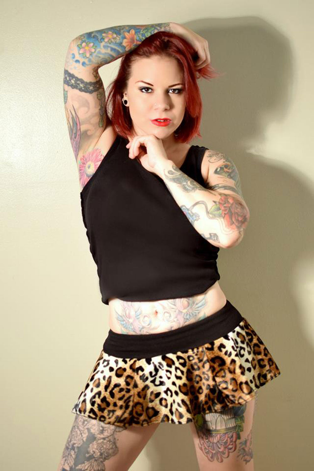 Leopard Micro Mini Skirt