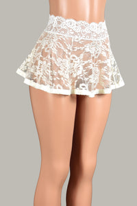 Ivory / Off-White Lace Skirt (Three Length Options)