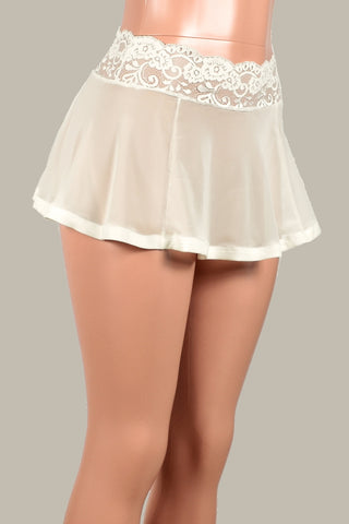 Ivory / Off-White Mesh Skirt (Four Length Options)