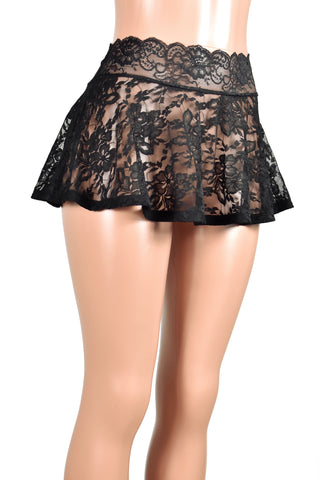 Black Lace Skirt (Four Length Options)