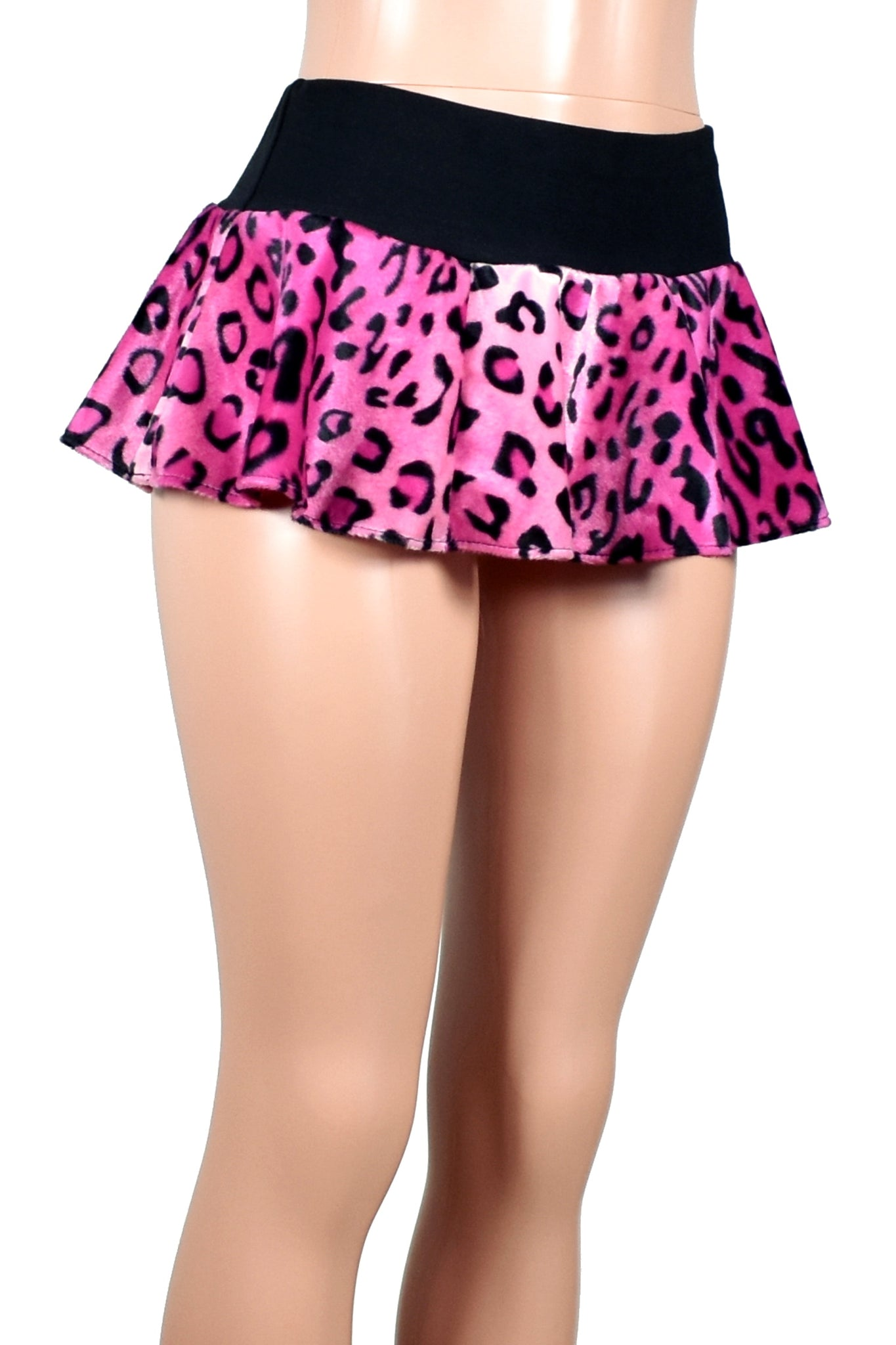 Pink Leopard Micro Mini Skirt