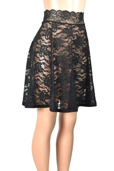 "Black Lace Skirt (21"" Length)"